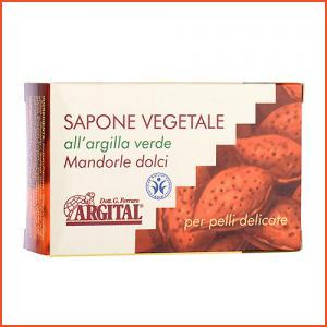 Argital  Vegetal Soap With Green Clay Sweet Almonds (For Delicate Skin) 100g,