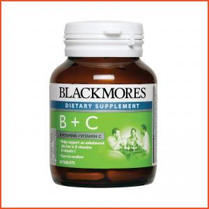 Blackmores Dietary Supplement Vitamin B + C (Energy) 60tablets,