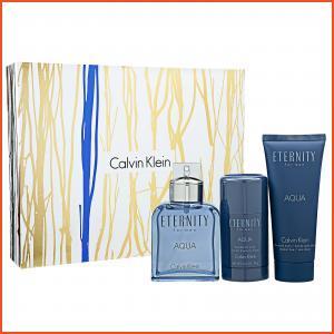 Calvin Klein Eternity For Men Aqua  Eau de Toilette 3-Piece Set 1set, 3pcs