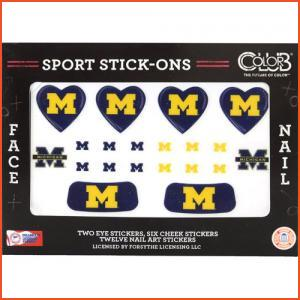 Color Club Sport Stick-Ons - Michigan (Brands > Nails > Sale > Nail Art & Effects > Nails > Color Club > View All > Sports)