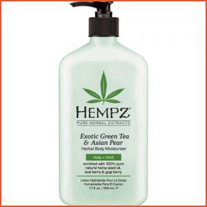 Hempz Exotic Green Tea & Asian Pear Herbal Body Moisturizer - 17 oz