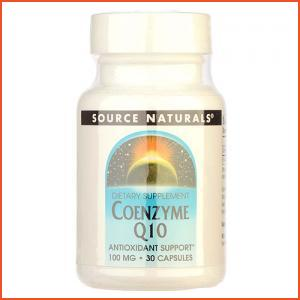 SOURCE NATURALS  Coenzyme Q10 100mg 30capsules,
