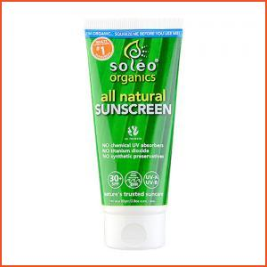 Soleo Organics  All Natural Sunscreen SPF 30+ 2.8oz, 80g